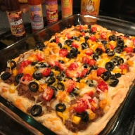 Deep Dish Mexican Pizza